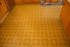 Vinyl flooring from the 70's