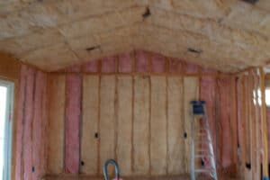 insulation in the walls and ceiling