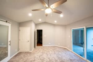 interior view of bedroom addition